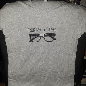 Talk Nerdy To Me Gray Shirt